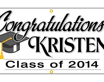 Personalized Graduation banner  Graduation Sign  Graduation Gift