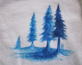 Pine Forest; 12 month Onesie Original Design