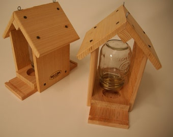 Bird Feeder - Mason Jar Bird Feeder