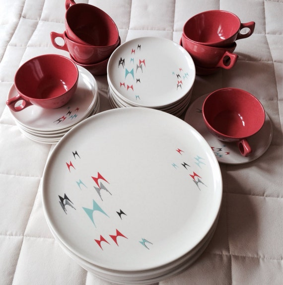 1950s Dishes: 1950's Vintage Rare Branchell Melmac