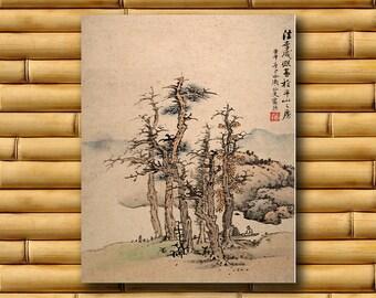 Japanese Art Asian Decor Landscape Print Nature Poster (J120)