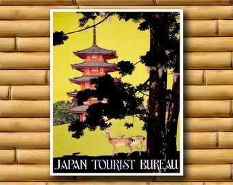 Japan Travel Poster Japanese Wall Art Asian Decor Print (AJT43)