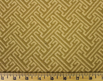 Gold and Brown Geometric Pattern - Fabric by the Yard 028