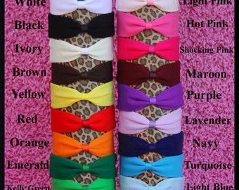 "1.5"" Cotton Nylon Knit Interchangeable Baby Headbands"