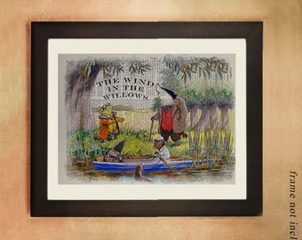 Wind in the Willows Dictionary Art Print Gift Ideas Boys Room Nursery Art Girls Childrens Book Room Decor da359