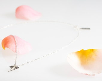 Silver Rose Thorn Necklace/ Thorn Necklace/ Silver Necklace/ Rose Necklace/ Twig Designs/ Handcrafted