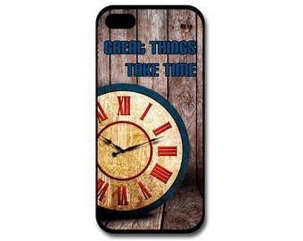 Clock Phone Case, Personalized Phone Case, iPhone, Samsung Galaxy, Custom Phone Case