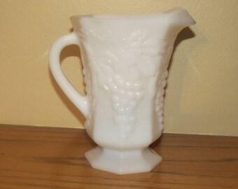 Anchor Hocking Milk Glass Pitcher, White Milk Glass Pitcher, Vitage White Milk Glass, Milk Glass Harvest Pattern, Mothers Day, Wedding Gifts