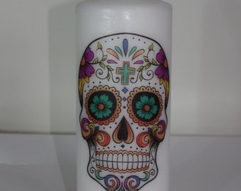 Sugar Skulls - Scented Pillar Candle