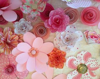 Custom Wreath of Paper Flowers
