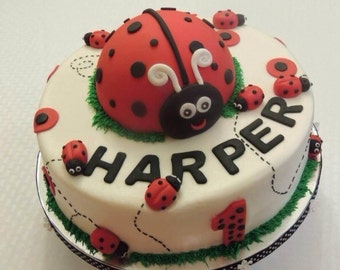 6 Inch LadyBug Cake Toppers