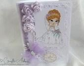 Wedding Congratulations Card - Handmade Card - Wedding Bliss Card - OOAK Card Unique One of A Kind Elegant Keepsake Wedding Card