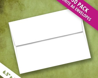 Recently Reduced! A6 Size White Envelopes | Pack of 50 High Quality Envelopes