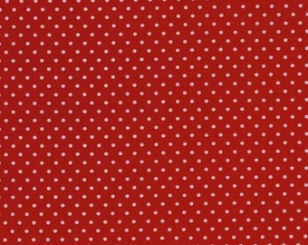 Robert Kaufman Pimatex Basics Tiny Polka Dots in Red 100% Cotton by Ann Kelle
