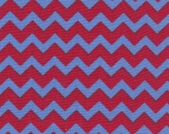 Fabric Finders  Red/Blue Chevron 1/2 yard