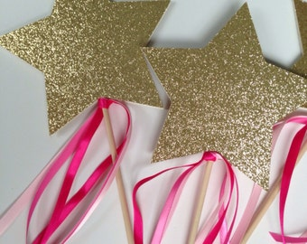 Gold Star Wand (set of 4)