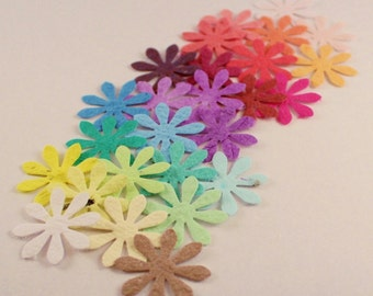 100 Daisy Flower Wedding confetti, plantable paper, eco friendly  wedding, recycled paper gifts, table decorations