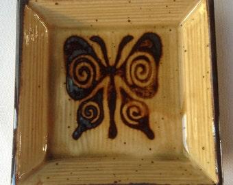 Vintage Butterfly Trinket Dish