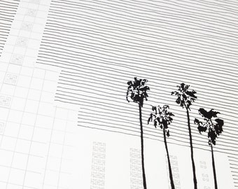 LOS ANGELES California LDS Temple (Original Drawing) Modern Ink Lines