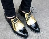 oxford shoes women/black oxford shoes women/women shoe/women shoes/womens shoes/leather shoes woman/shoes women/gold metallic shoes/women--0