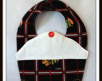 Baby Shower Chicago Baby Hockey Blackhawks  Bib