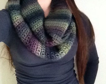 Multicolor Crocheted Fashion Infinity Scarf