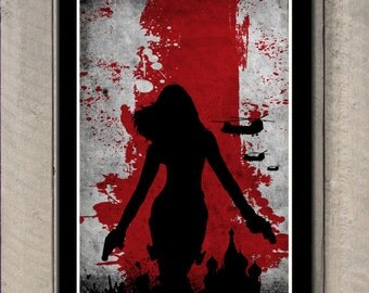 Vintage Avengers Movie Poster Set - Black Widow