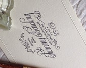 Custom rubber stamp in calligraphy