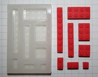 Multi Cavity STANDARD Lego Brick Mould.  Food & Heat Safe Silicone.