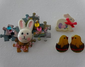 Vintage collection of 3 Easter jewelry