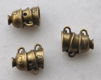 1pcs Antique Bronze Three bowls  overlap  Charm Pendant and  fittings  21*19mm - ----G0014  (10.9g)