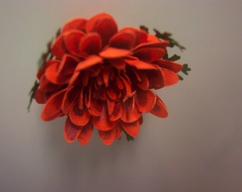 One Orange Paper Marigold Refrigerator Magnet