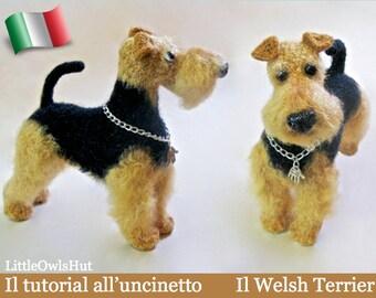 102IT Il tutorial all'uncinetto Il Welsh Terrier. Amigurumi Giocattolo - PDF Di Chirkova Etsy