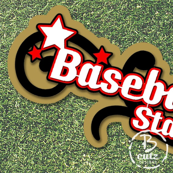 Baseball Star Title Multi-Layered Die Cut from BCutzDesign ...