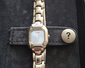 Guess watch with complete original case, links and paperwork
