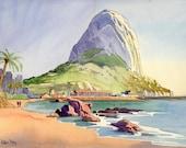 Calpe, Spain -New Original Watercolour, 13 x 18 inches approx.