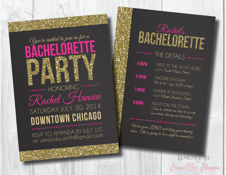 Bachelorette Invite Bachelorette Party Invite by ...