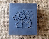 Bride and Groom Soap Stamp Soap Mold Seal DIY Handmade Soap