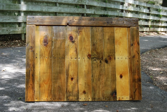 Items similar to Reclaimed Wood Pallet Headboard, Wall ...