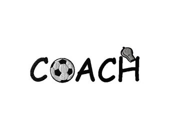 Soccer Coach Machine Embroidery Design 2 sizes