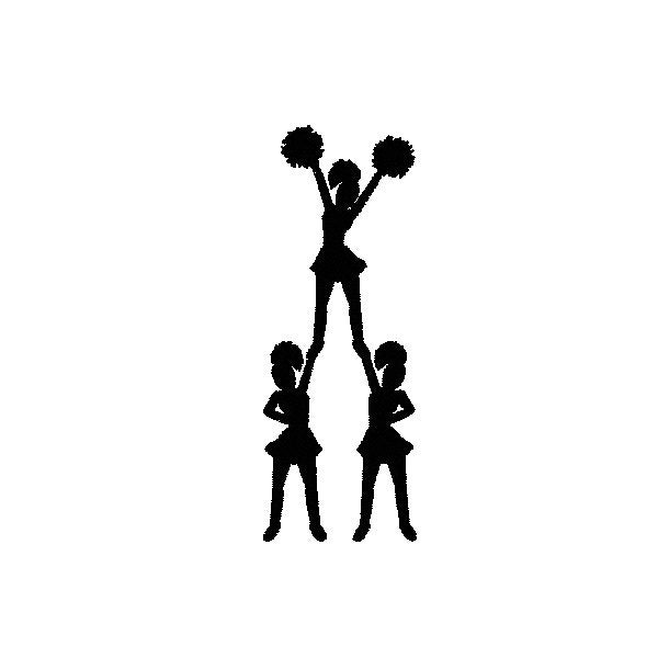 Pics For Gt Cheer Jumps Silhouette