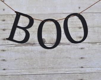 Boo Banner, Boo Halloween banner, Halloween decoration, Halloween banner