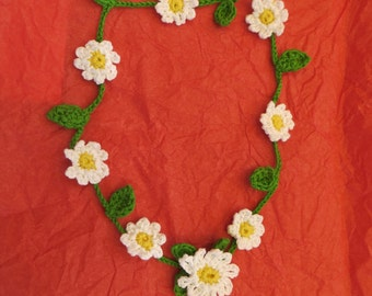 SOLD - Daisy Garland for a Bride's hair