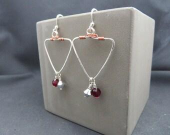 Geometric silver and copper dangles