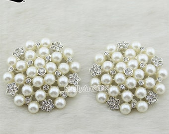 Rhinestones Shoe Clips Bridal Shoes/ Wedding Shoes for Bride Crystal with Pearl 1 pair/lot Decorative Shoe Clips/ Diamante Shoe Clips