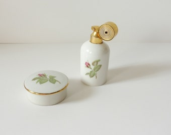 toilet, bathroom, perfume bottle, poudrier, jewel