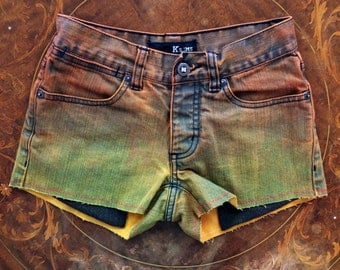 Sz 0 Sunset Ombre shorts