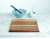 2067_31 - 250mm x 250mm - Architecturally designed cutting boards, handcrafted from repurposed timber