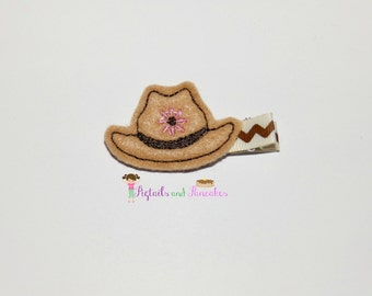 Felt Cowboy Hat Hair Clip