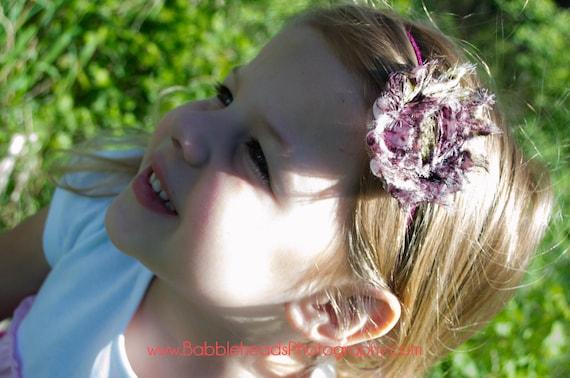 Set of Floral  Shabby  flower Baby Headband, Newborn Headband,  Infant Headband,Baby Headband, Headband Baby, White Baby Headband